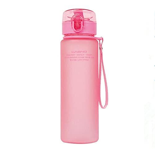 MCYAW 400 ml 560 ml Escolar a Prueba de Fugas de Agua, Deporte de Agua, Botella de Regalo de Agua, Excursionismo, Botellas portátiles, Botes de Agua (Capacity : 400ml, Color : Pink)
