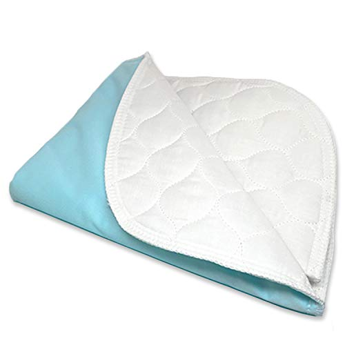 Ultra Soft 4-Layer Washable and Reusable Incontinence Bed Pad - Waterproof Bed Pads, 34'X54' with Four Handles