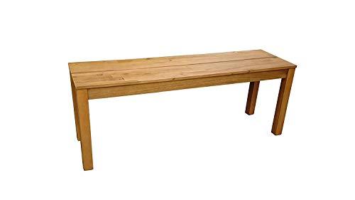 SAM® 2-Sitzer Garten-Bank Elyar aus braunem geöltem Akazien-Holz, 120 cm Breite