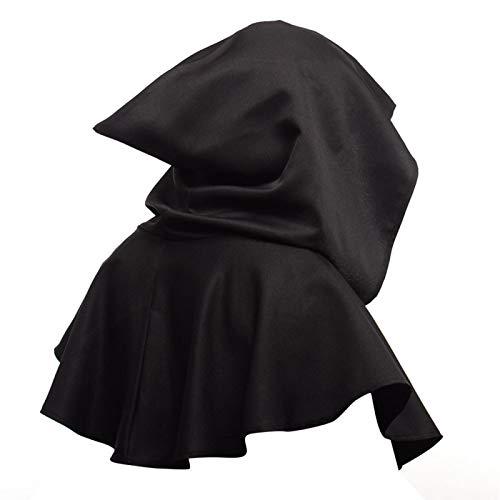 Amusingtao Disfraz unisex de Gugel, sombrero, máscara, brujería, bruja, bruja, color negro