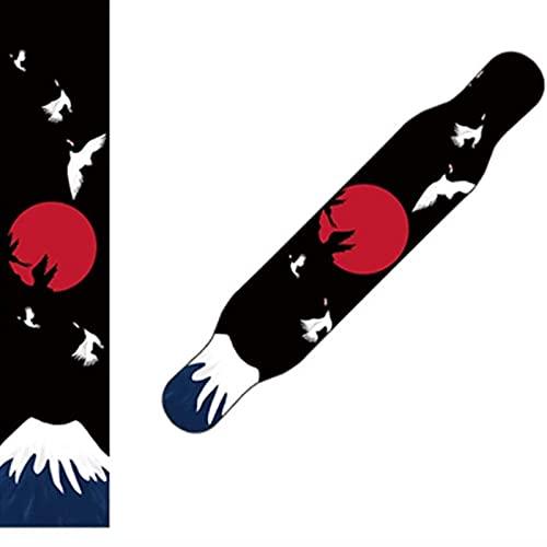 YiShuHua Skateboard Griptape, Skateboard Grip Tape Hoja 48x10 Pulgadas, Cinta de Agarre de la Scooter, Doble Arriba Doblado Doble Grip Tape, Tablero de Danza Papel de Bordado (Color : D)