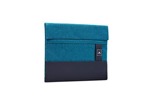 RIVACASE® Elegante Hülle, Laptoptasche, passend für die meisten Laptops, Ultrabooks und Tablets bis 13,3 Zoll | Riva Nun Partner des Galapagos Conservation Trust (Aqua)