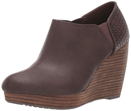 Dr. Scholl's Shoes Women's Harlow Ankle Boot, Dark Brown, 9.5 W US
