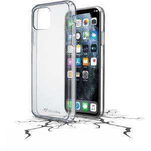 Cellularline Backcover Clear Duo, größerer Bildschirmschutz, doppeltes Schutzmaterial, Anti-Shock Cover, Schutz vor Stößen & Stürzen, passend für 11 PRO MAX