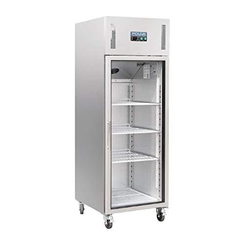 Polar CW197 Réfrigérateur vertical en verre 600 l