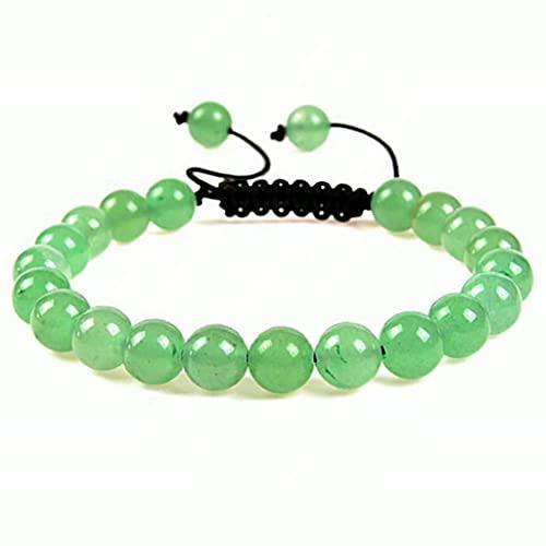 yxx Parejas Amistad Beads Pulsera para Hombres Natural Tiger Ojo Moonstone Piedra Pulsera Chakra Healing Energy Macrame Pulseras para Mujeres Hombres Joyería Día De Madres Pulsera