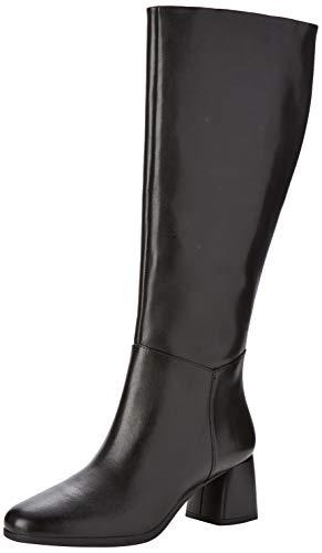 Geox D Calinda Mid C, Stivali Alti Donna, Nero (Black C9999), 39 EU
