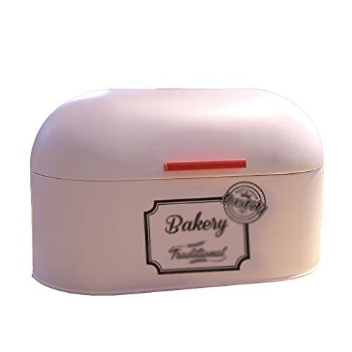 Boîte à pain avec couvercle à charnière, boîte de rangement (Color : Beige)