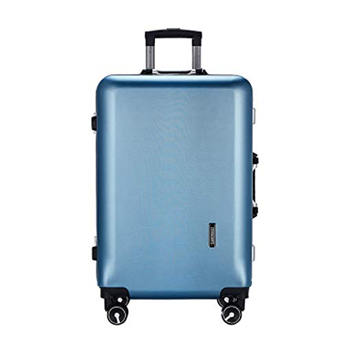 Caishuirong Luggage Men's Business Aluminum Frame Trolley Luggage Suitcase 20/24 Inch Suitcase Wear-resistant Non-slip Suitcase For travel and business trips (Color : C4, Size : 22inch)