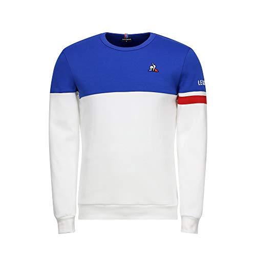 Le Coq Sportif Felpa Tricolore Bianco M (Medium)