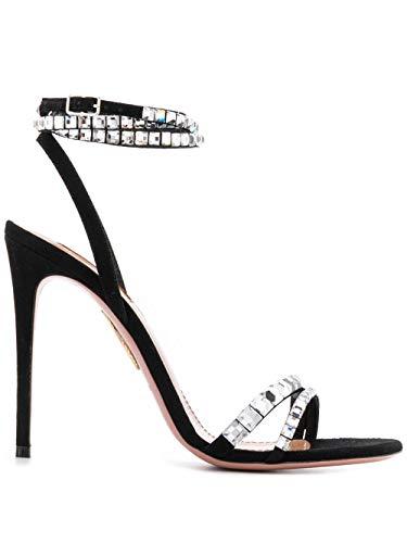 AQUAZZURA Luxury Fashion Damen SOVHIGS0SUE000 Schwarz Leder Sandalen | Herbst Winter 20