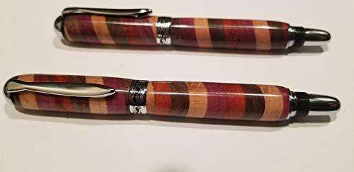 Handmade fountain pen &rollerball pen. Chrome