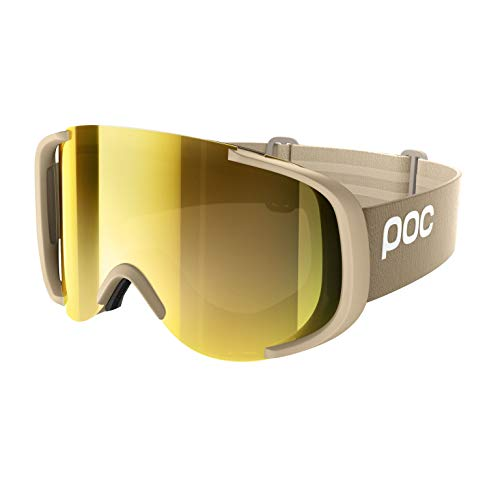 POC Cornea Clarity Ski Brille, Rhodium Beige/Spektris Gold, One Size