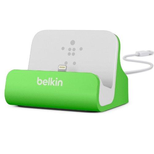 Belkin Lightning Lade/Sync-Dockingstation (mFI-zertifiziert, incl 1,2m USB-Kabel, geeignet für iPhone 8, iPhone 7, iPhone 6/6s, iPhone 5/5s/5c, iPhone SE) grün