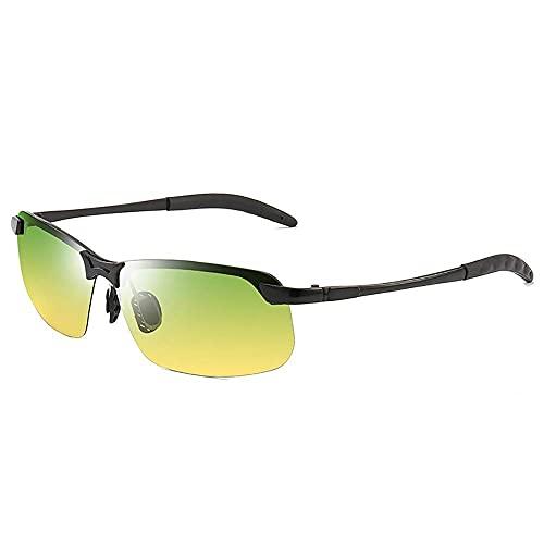Gafas de sol de estilo polarizadas de color para día y noche, con gafas que cambian de color, visión nocturna, gafas de pesca (color: negro, tamaño: tamaño libre)