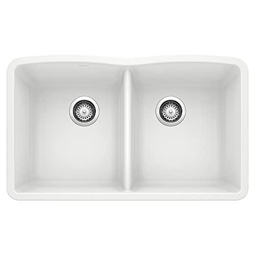 BLANCO 440185 Diamond Silgranit 50/50 Double Bowl Undermount Kitchen...