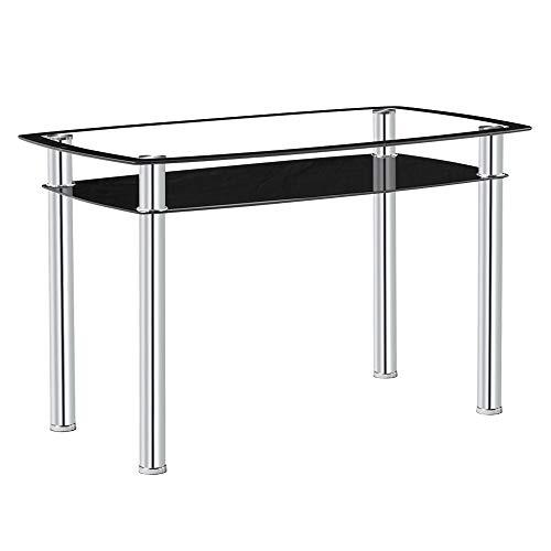 Gharpbik 120 * 70 * 75cm Double-Glazed Dining Table Dinner Room Tables Home Kitchen Decor Furniture