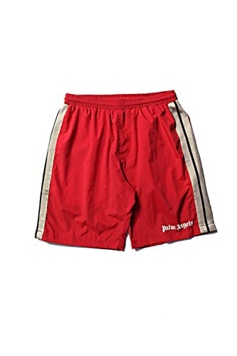 Palm Angels Shorts Men Women Summer Style Striped Drawstring Rhude Mesh Shorts Red M