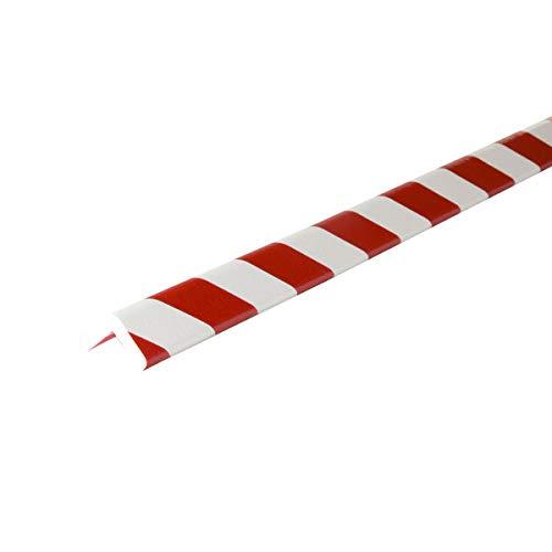 Betriebsausstattung24® Eckschutzprofil Typ H | rot/weiß | selbstklebend | Länge: 1,0 m