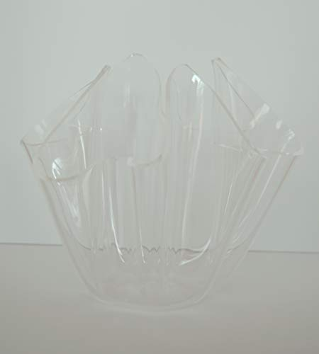 Sfamurri Neuheitenvertrieb Acrylvase - Hochwertige Vase aus transparentem Acryl, geschwungene Form Höhe ca. 14 cm, Durchmesser ca. 16 cm