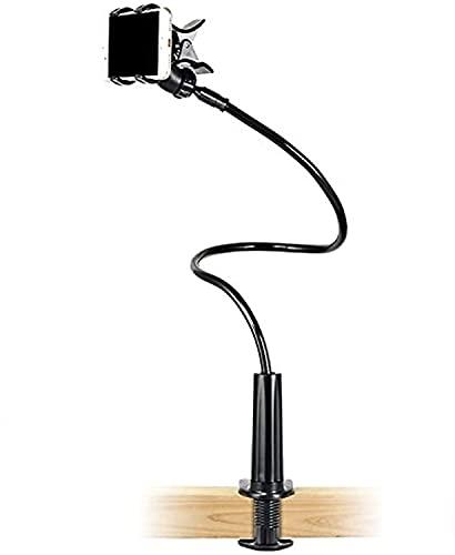 Supporto per Cellulari a Collo di Cigno, Universale Flessibile Supporto per Telefono Cellulare, Stand per baby monitor, Collo D'oca Supporto Regolabile 360 Rotazione per Smartphone letto Ufficio