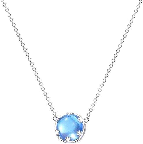 niuziyanfa Co.,ltd Halskette Aurora Blue Stone Silber Farbe Anhänger Halskette für Frauen Schmuck Beste Urlaub oder Geburtstagsgeschenk für Frauen und Mädchen