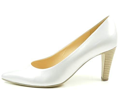 Gabor 61-280 Schuhe Damen Perlatolack Pumps Weite F, Schuhgröße:38.5;Farbe:Silber