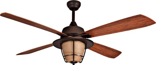 """Craftmade MR56ESP4C1 Morrow Bay 56"""" Outdoor Ceiling Fan with 120 Watts Light Kit, 4 ABS Blades, Espresso"""