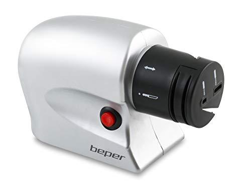 Beper 90.046 Affilacoltelli Elettrico, acciaio inossidabile, Bianco