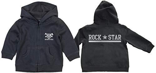 Rock Star Silver Sucette Pirate zippée à capuche black - Noir -