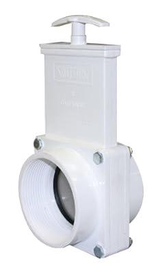 "Valterra 4307 PVC Gate Valve, White, 3"" FPT by Valterra Products"