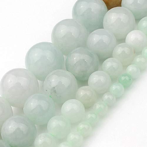 SHYSP Esmeralda redondo de los granos de piedra naturales jade verde for la joyería que hace pendientes del collar de la pulsera DIY de la selección 4 6 8 10 mm 15 pulgadas ( Item Diameter : 6