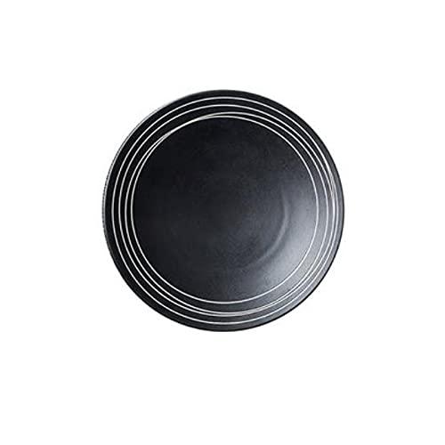 Hanpiyigcp Platos, 1 unids Placa de cerámica, Placa de Cena, Usado para Pizza, bistec, Pasta, vajilla de Restaurante Occidental (Size : S)