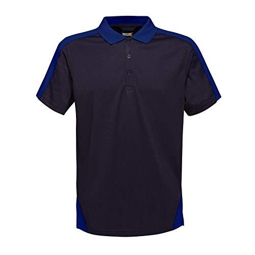 Regatta Coolweave Poloshirt, professionell, kontrastierend, NVY/NewRoyal, Größe 4XL