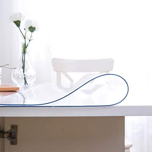 Tovaglia Trasparente Tovaglia in Vetro Morbido Piatto in Cristallo in PVC Tovaglia in plastica Anti-scottatura Impermeabile Tingting (Color : Clear, Size : 60 * 120CM)
