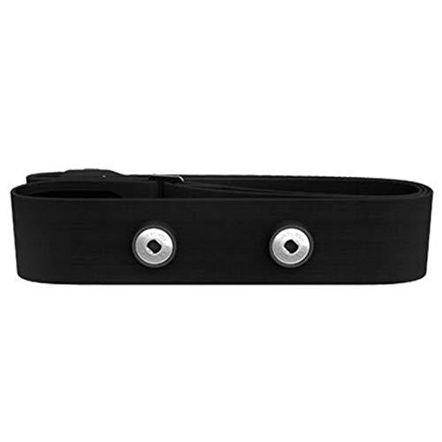 YDL Cinturón De Pecho De Ritmo Cardíaco Negro Banda De Correa del Cinturón Elástico para Garmin Wahoo Polar Sport Runing Monitor De Frecuencia Cardíaca para Bluetooth (Color : Black)