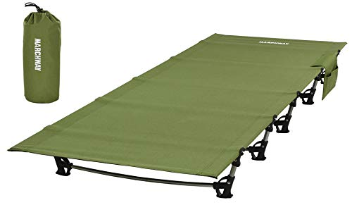 MARCHWAY Ultralight Folding Tent Camping Cot Bed, Portable Compact for Outdoor Travel, Base Camp,...