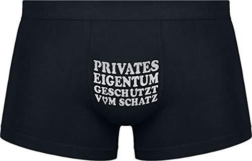Herr Plavkin | Privates Eigentum geschützt vom Schatz | Schwarze Farbe | Das Klassische Modell.