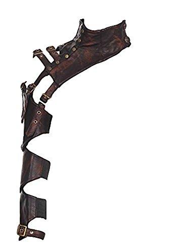 RQ-BL Steampunk EINSEITIGE ARMSTULPE Kunstleder Vintage Leder ausgefallen Damen Rüstung, Größe:S