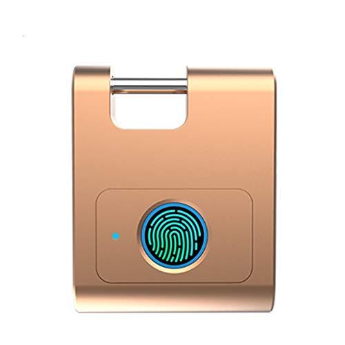 HUYHUJ Seguridad 360 Grados Anti-Robo Inicio USB Recargable Gabinete de Huellas Dactilares Candado Bluetooth Mini Dormitorio Smart Keyless (Color : B)