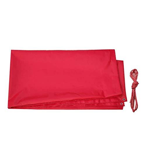 AOLI Encerado del abrigo de la tienda Tarp cubierta de PVC al aire libre a prueba de polvo reforzada con chapa de la cubierta de tierra - Rojo,7,8 m * 5,8 m