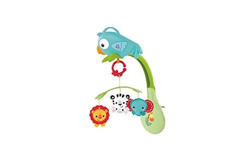 Fisher-Price CHR11 3-in-1 Rainforest Mobile mit Musik geeignet für Kinderbetten Kinderwägen Buggys Babyerstausstattung, ab 0 Monaten
