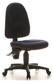 Topstar chaise de bureau pivotante-tissu-bleu foncé pOINT 20