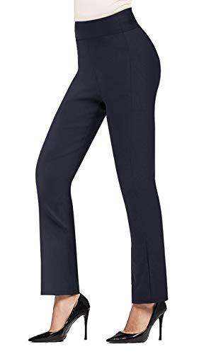 Hybrid & Company Super Comfy Stretch Pullon Bootcut Millennium Pants P44972BL Navy M