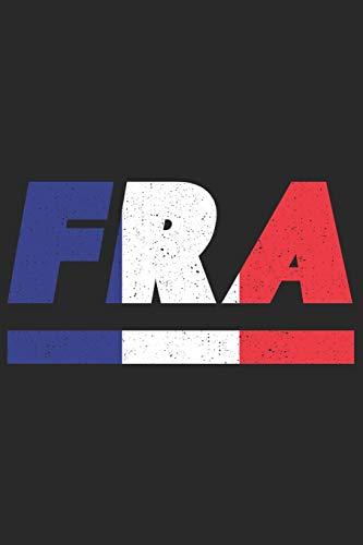FRA: Frankreich Tagesplaner mit 120 Seiten in weiß. Organizer auch als Terminkalender, Kalender oder Planer mit der französischen Flagge verwendbar