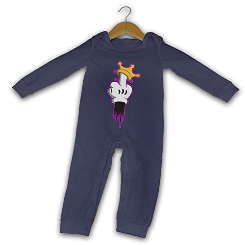 WushXiao Giving The Mittelfinger Long Comfort Baby Crawler schwarz Gr. 18 Monate,...