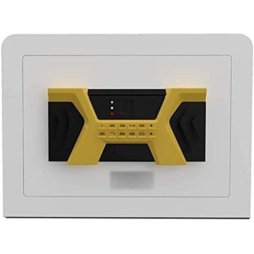 Caja de seguridad digital, caja fuerte extra grande para gabinete con código de estante extraíble y llave de anulación de emergencia, alarma incorporada montada en la pared / piso para computadora p