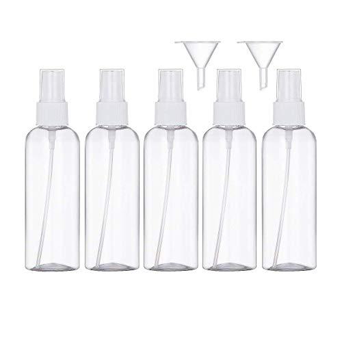 Sprühflasche Transparente Leer Feinen Nebel Sprühflasche Reise - Plastik Parfümzerstäuber Leer Sprühflasche-Zerstäuber Flaschen ,Atomiser (5×100ml)