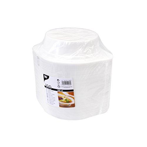 PAPSTAR Suppenschalen, 500 ml, Weiß, 100 Stück