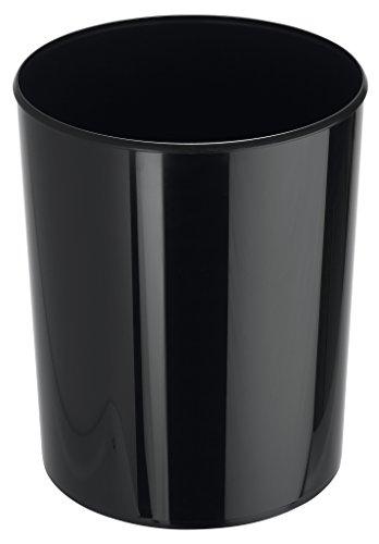 HAN Design-Papierkorb i-Line 18200-13 in Schwarz/Eleganter & stylischer Papiereimer für das moderne Büro/Fassungsvermögen: 20 Liter